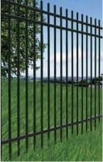 Extended Picket Style Steel Fence