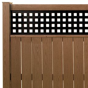 Lattice PVC Privacy Fence