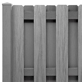 Shadowbox PVC Privacy Fence