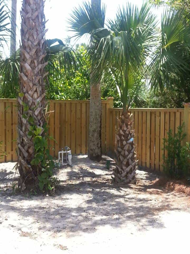 Wood Fencing Installed 1