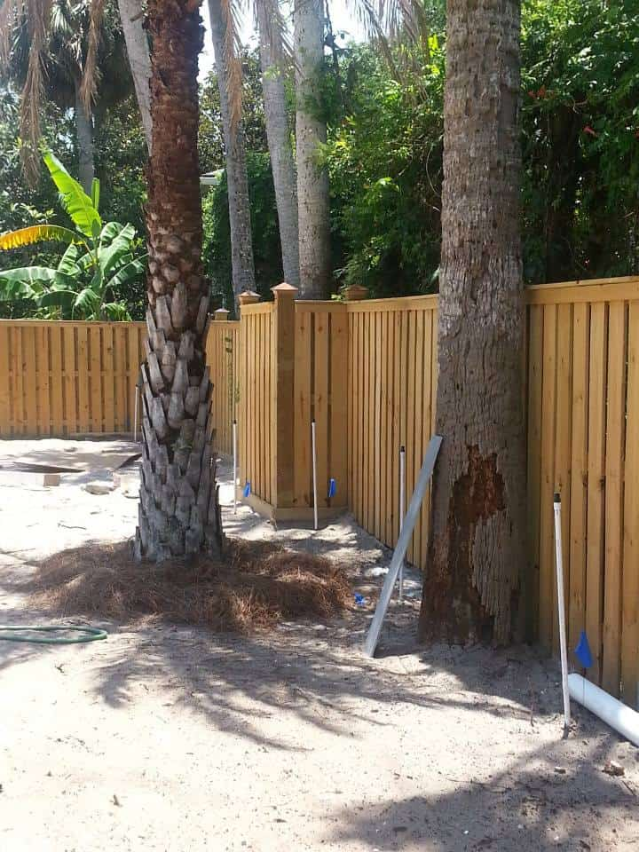 Wood Fencing Installed 2