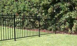 Decorative Black Aluminum Fence