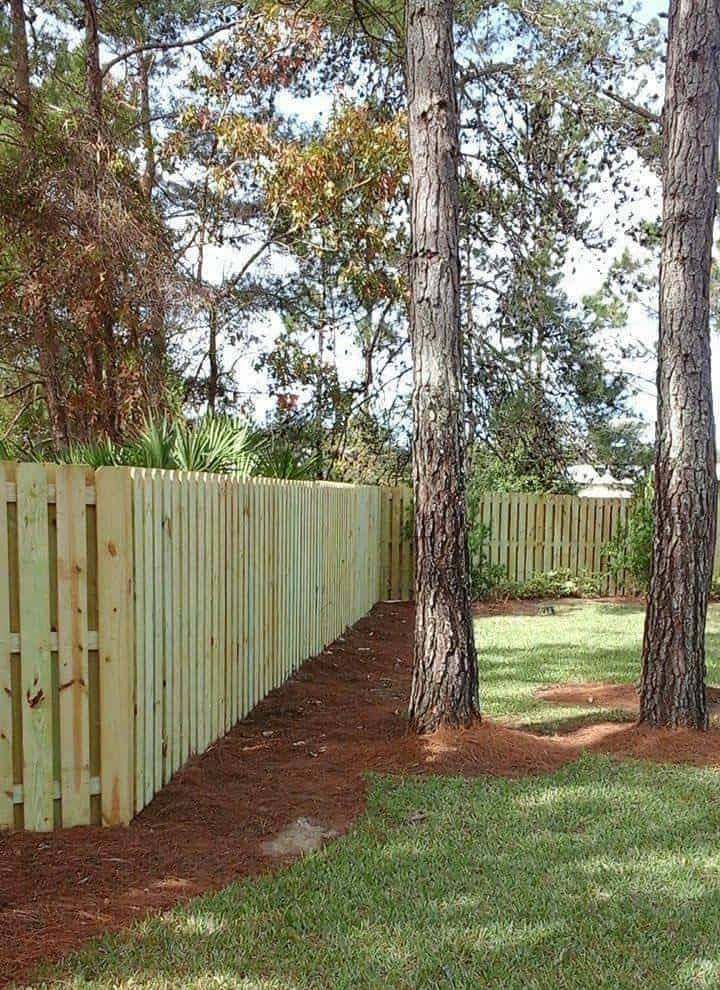 Wood Fence New Install