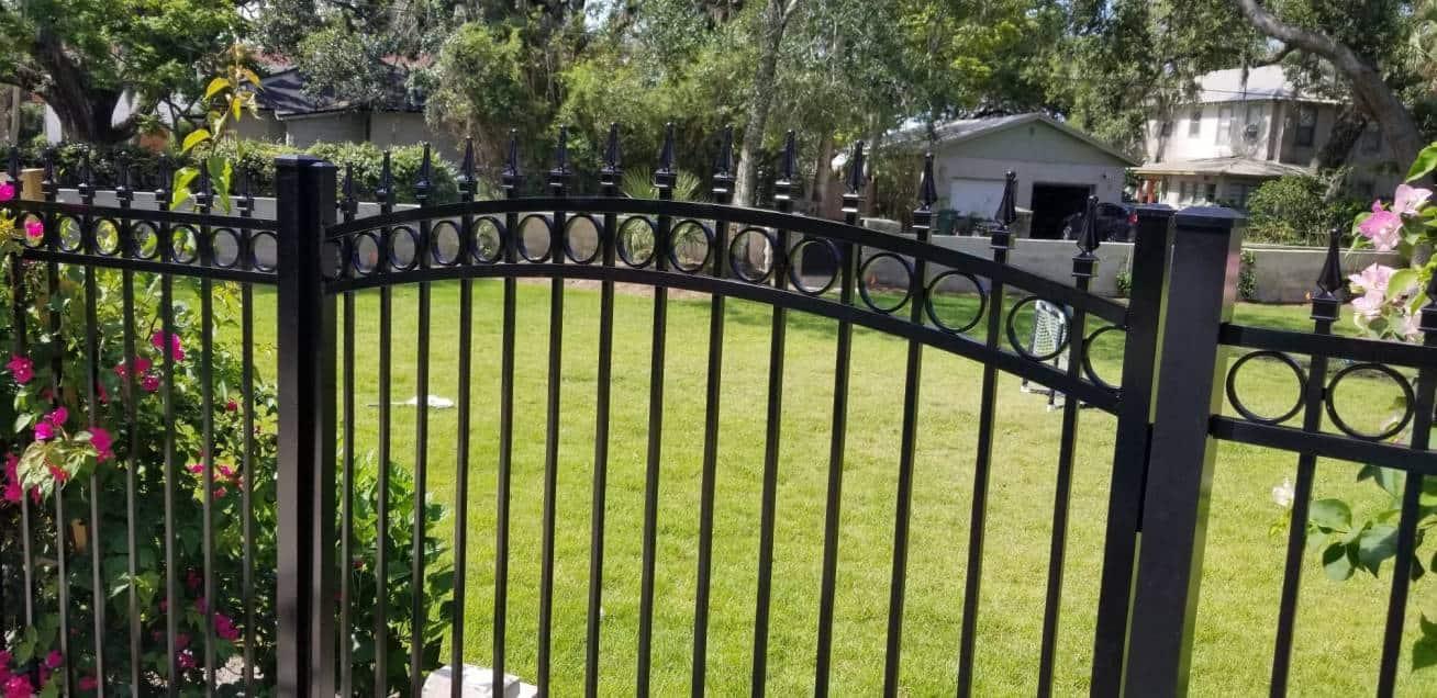 Black Aluminum Fence with Gate