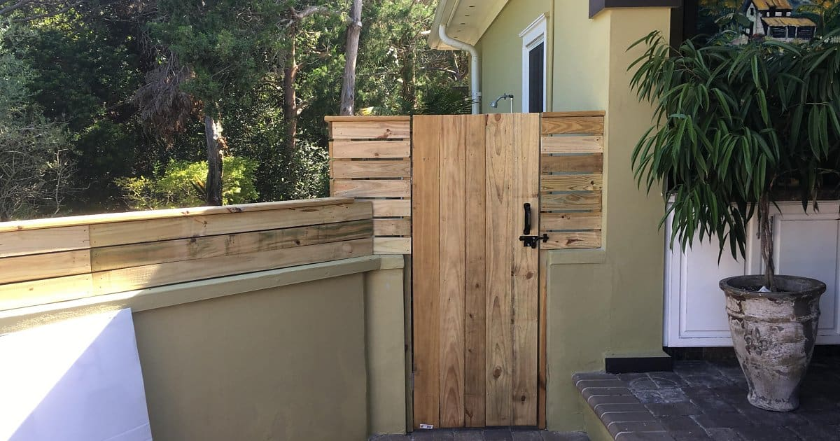 A Custom Wood Fence Project