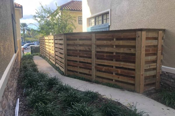 Horizontal Shadowbox Wood Fence