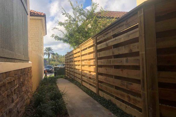 Horizontal Wood Shadowbox Fence