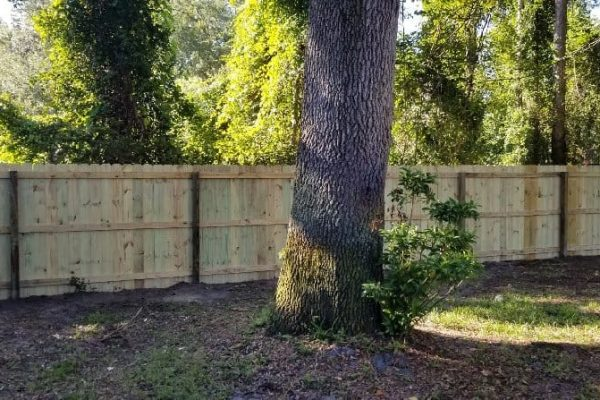 Residential Wood Stockade Privacy Fence