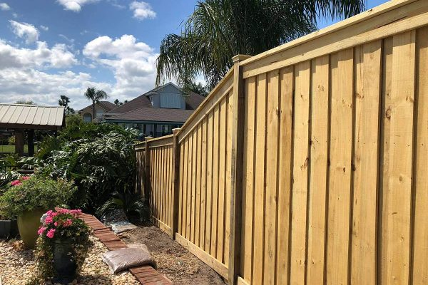 A New Wood Fence Install