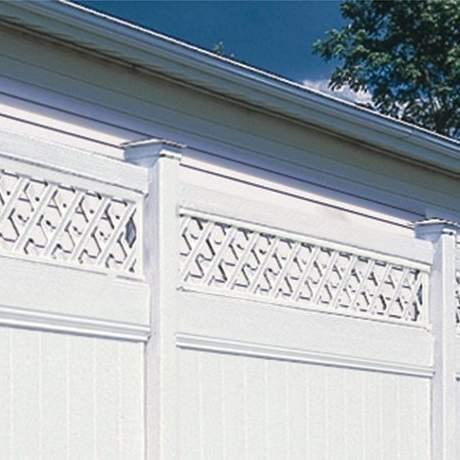 Galveston With Lattuce Accent PVC Fence