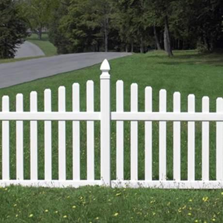 Rothbury Concave PVC Fence